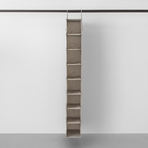 8 Shelf Hanging Fabric Shoe Organizer Light Gray Made By Design Target