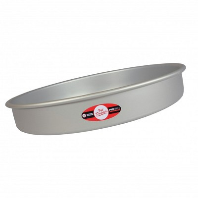 Fat Daddio's PRD-122 Anodized Aluminum Round Cake Pan with Solid Bottom, 12 x 2""