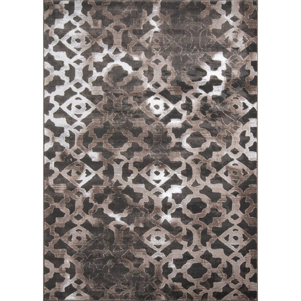 Brown Geometric Loomed Accent Rug 3'3x5' - Momeni