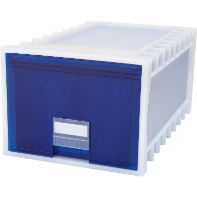 "Storex 24"" Stackable Plastic Archive Storage Drawer"
