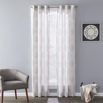 SKL Home Kali Sophisticated Design & Slub-Weave Fabric SunSafe Window Panel
