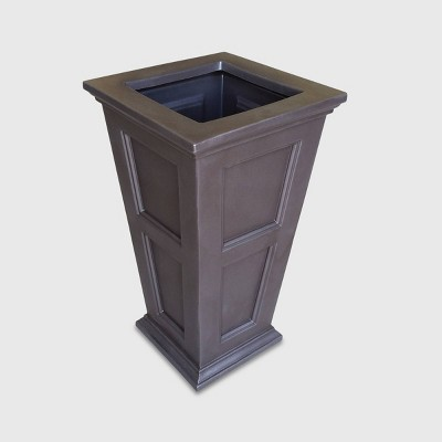 28.5 H Square Planter - Espresso Brown - Mayne