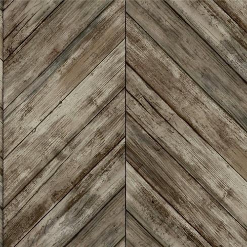 Roommates Herringbone Wood Boards Peel Stick Wallpaper Target