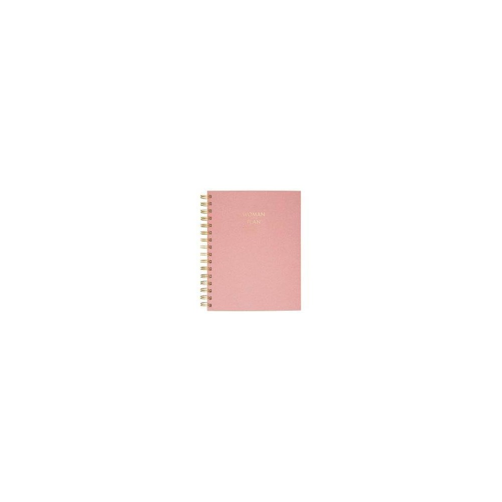 Image of Create & Cultivate Wirebound Spiral Subject Notebook - Pink