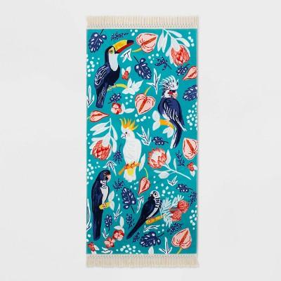 Tropical Bird Floral Beach Towel - Opalhouse™