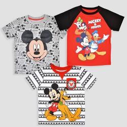 522365e0d8b8 Toddler Boys' 3pk Disney Mickey Mouse & Friends Short Sleeve T-Shirt - Black