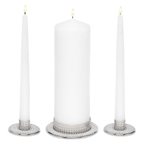 Vintage Pearl Wedding Collection Unity Candle Set Stand : Target