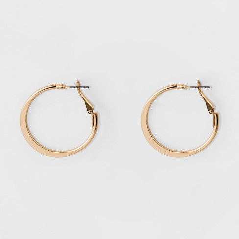 Medium Flat Hoop Earrings - A New Day™ Gold - image 1 of 1