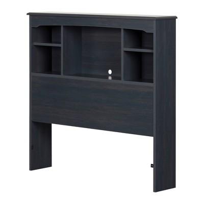 Twin Navali Bookcase Headboard  Blueberry  - South Shore