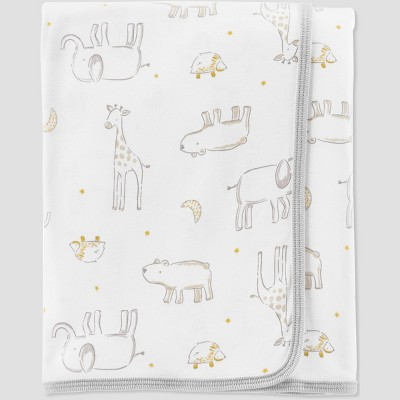 Baby's Animal Print Blanket - Little Planet by Carter's Green