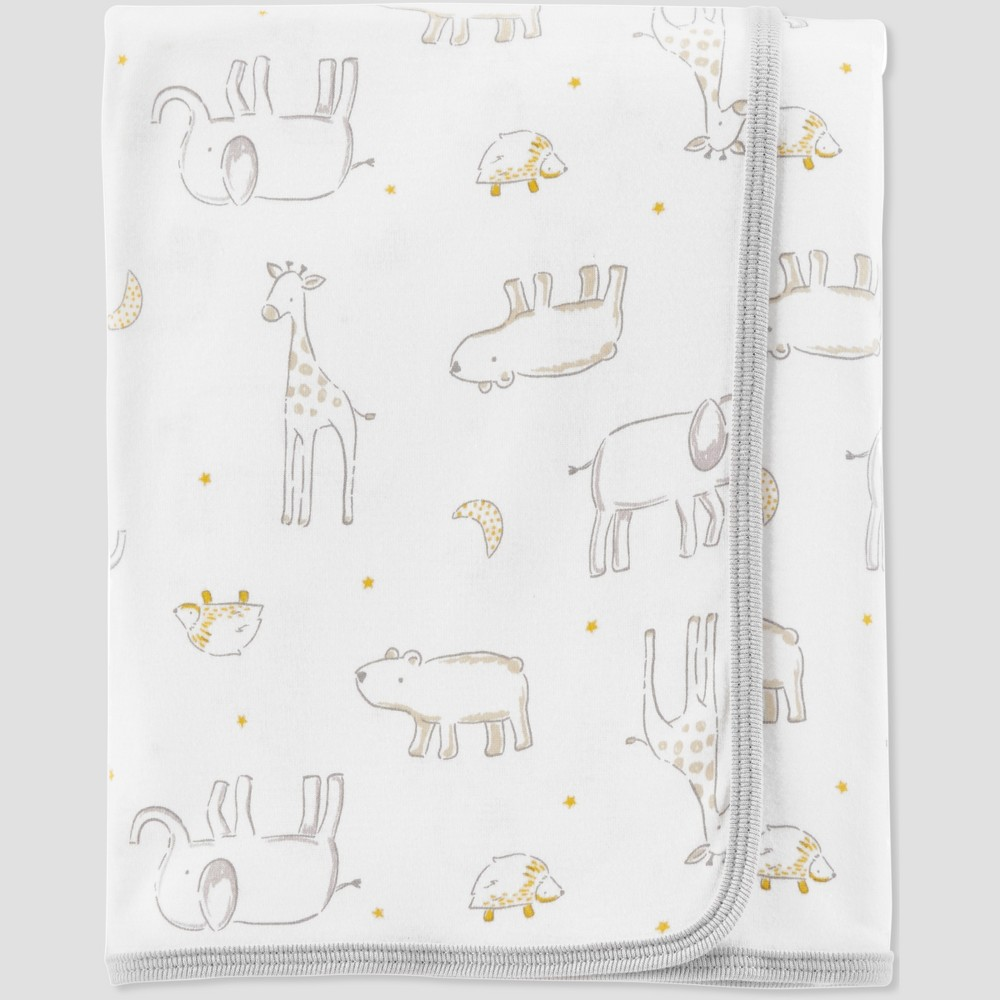 Baby Animal Print Blanket - Little Planet by Carter's Green