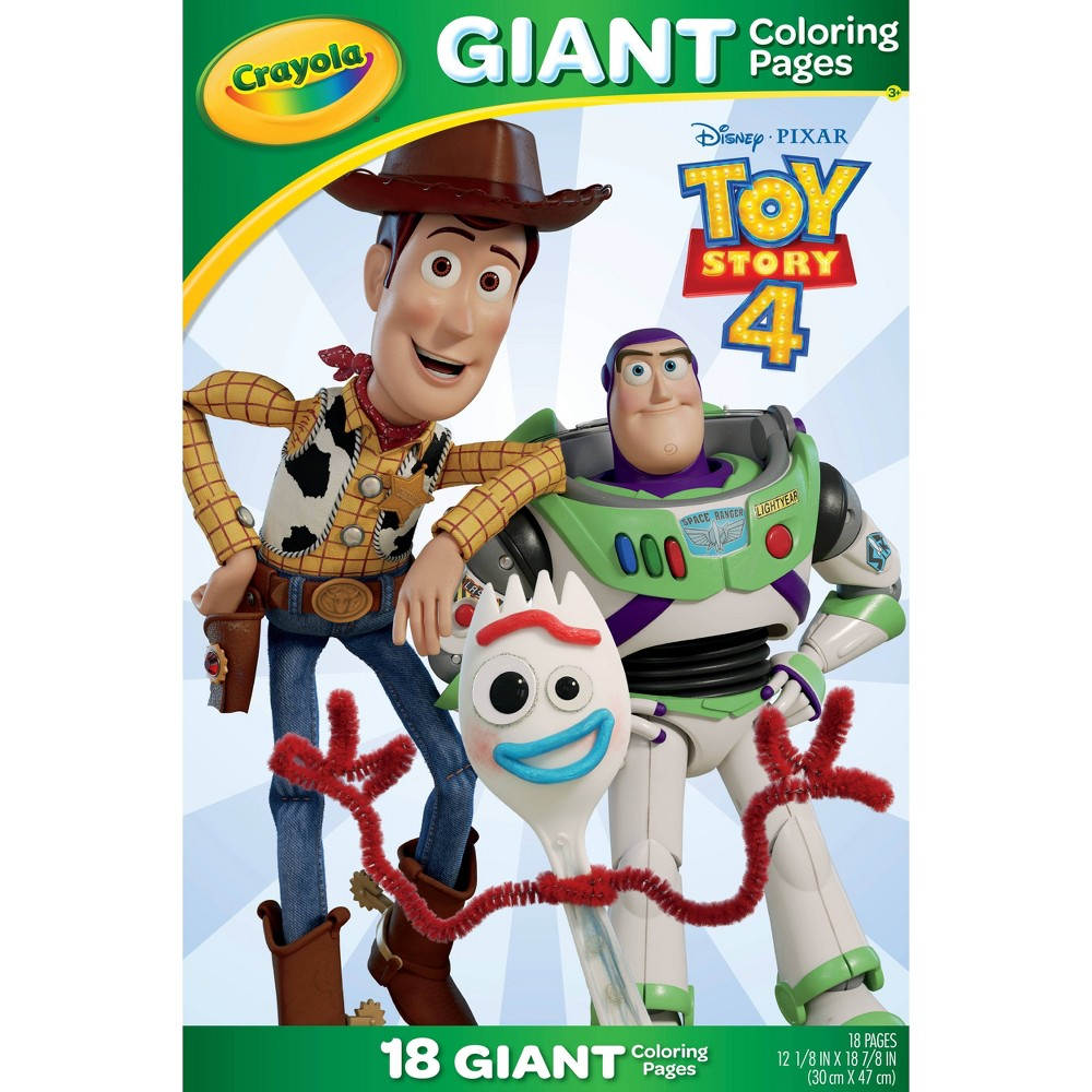 Image of Crayola 18pg Disney Toy Story 4 Giant Coloring Pages