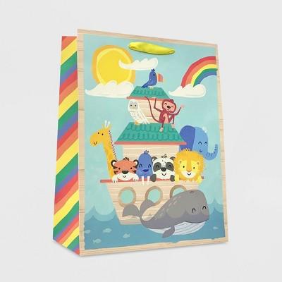 Medium Animals in Ark Baby Shower Gift Bag - Spritz™