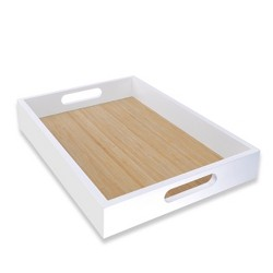 White Serving Wood Tray - Spritz™