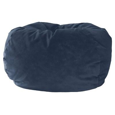 Kids' Micro-Fiber Suede Bean Bag Chair Blue - Gold Medal