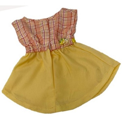 Doll Clothes Superstore Sunny Yellow Dress Fits Cabbage Patch Kid Dolls 18 Inch Girl And 15-16 Inch Baby Dolls
