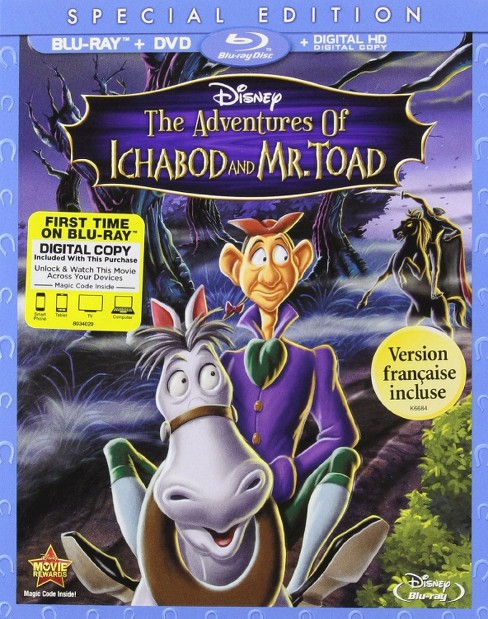 The Adventures of Ichabod and Mr. Toad (2 Discs) (Blu-ray/DVD) - image 1 of 1
