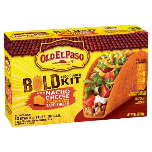Old El Paso® Bold Taco Dinner Kit Nacho Cheese 9.5 oz - image 1 of 1