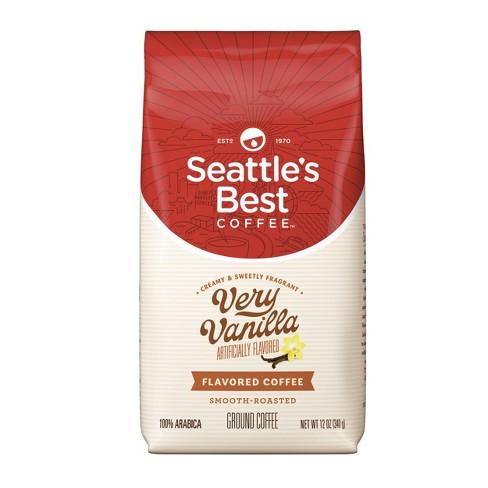 Seattle's Best Coffee Very Vanilla Medium Roast Ground Coffee - 12oz - image 1 of 4
