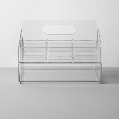 Bathroom Plastic Nail Organizer Caddy Set Clear - Made By Design™