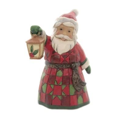 "Jim Shore 3.5"" Mini Santa With Lantern Heartwood Creek  -  Decorative Figurines"