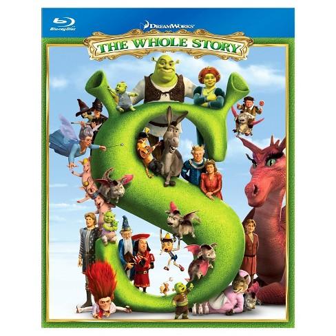 Shrek: The Whole Story (Shrek / Shrek 2 / Shrek the Third / Shrek Forever  After (Blu-ray)