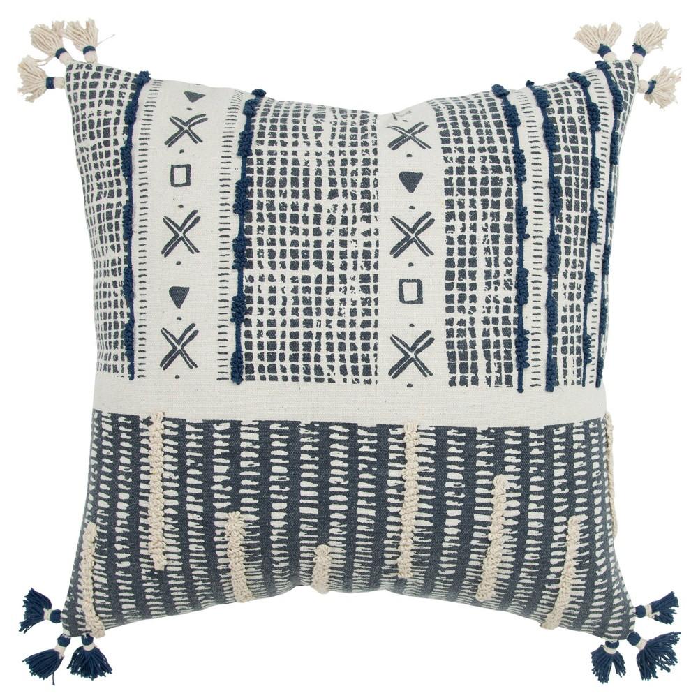 20 34 X20 34 Irregular Geometric Striped Polyester Filled Pillow Navy Donny Osmond Home