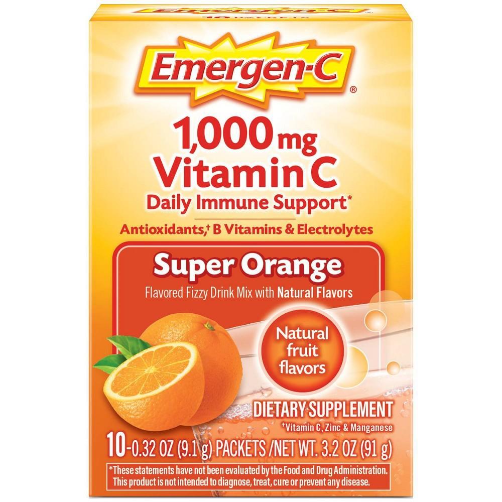 Emergen C Vitamin C Drink Mix Super Orange 10ct