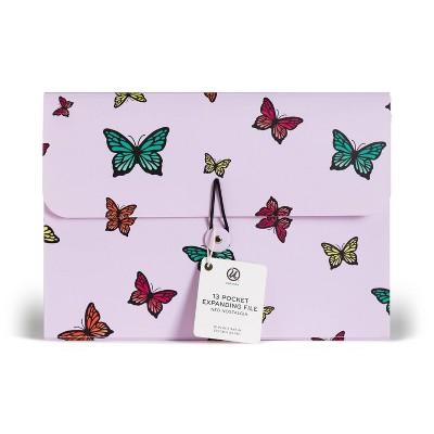 U Brands 13 Pocket Expandable File Organizer Butterfly