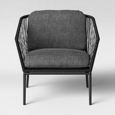 standish 2pk patio club chair black gray project target rh target com