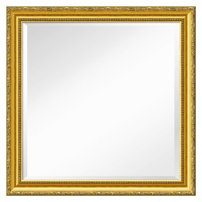 """24"""" x 24"""" Colonial Embossed Gold Framed Wall Mirror - Amanti Art"""