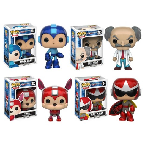 Funko Megaman: POP! Games Collectors Set; Megaman, Rush, Protoman, Dr. Wily - image 1 of 5