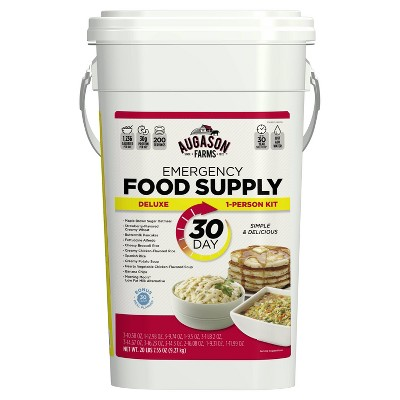 Augason Farms Deluxe Emergency 30-Day 1-Person Food Supply Kit - 20lbs