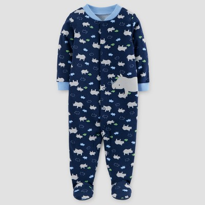 Baby Boys' Cotton Rhinos Sleep N' Play - Just One You™ Made by Carter's® Navy 3M