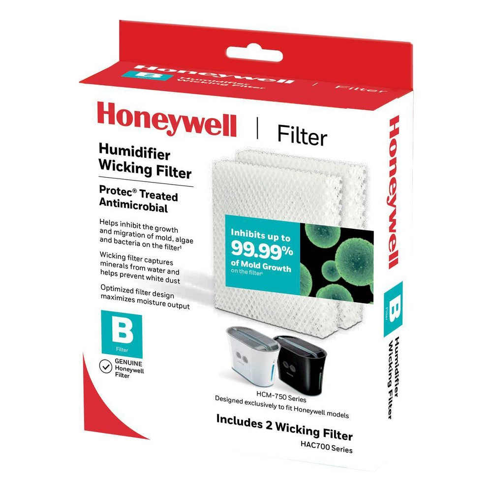 Honeywell Replacement Wicking Filter Use with cool moisture evaporative humidifiers. Honeywell evaporative humidifiers are designed around the replacement filter to optimize performance and output. For best results, use only genuine Honeywell filters.
