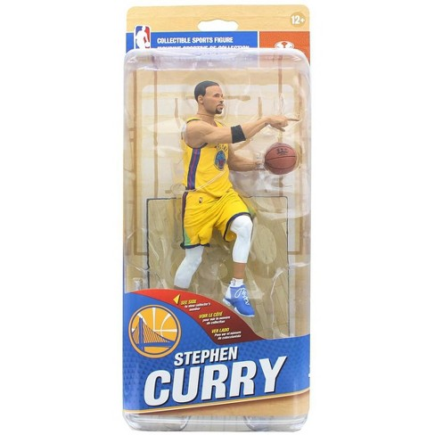 "Mcfarlane Toys Golden State McFarlane NBA 32 Figure - Stephen Curry Yellow ""The Bay"" #39 of 50 - image 1 of 4"