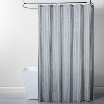 Herringbone Stripe Shower Curtain Gray - Threshold™
