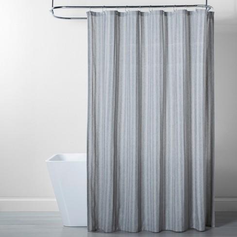 Herringbone Striped Shower Curtain Gray, Grey Striped Shower Curtain