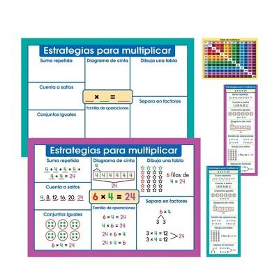 69pc Multiplication Instructional Set in Spanish - Carson Dellosa