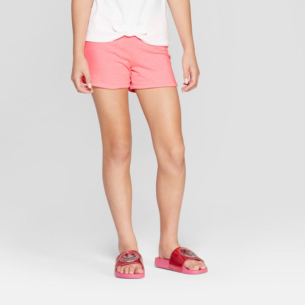 Girls' Knit Shorts - Cat & Jack Coral (Pink) XS