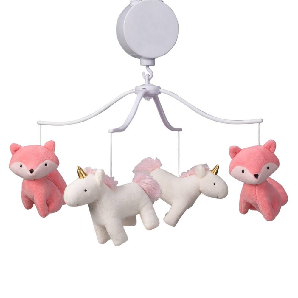 Image of Bedtime Originals Musical Baby Crib Mobile - Rainbow Unicorn, Infant Girl's