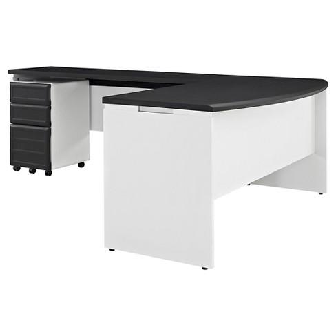 Aerotech Bridge Set Executive Desk Credenza And Mobile File Bundle Room Joy