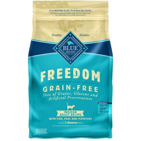Blue Buffalo Freedom Grain Free Indoor With Fish, Peas & Potatoes Adult Premium Dry Cat Food - image 1 of 4