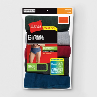 Hanes Men's 6pk Comfort Soft Waistband Mid-Rise Briefs XXL - Color May Vary, Size: XXL, Clear