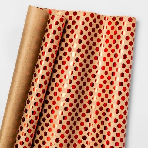Dots Gift Wrap Red - Wondershop™ - image 1 of 1