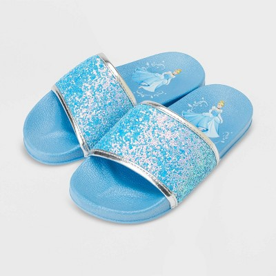 Girls' Disney Cinderella Slide Sandals - Blue - Disney Store