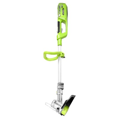 12  40 Volts, 72 Watts Cordless Lithium String Trimmer - Green - Earthwise