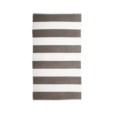 Caro Cabana Beach Towel Gray - Caro Home