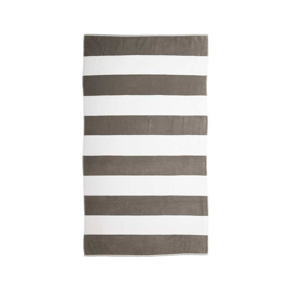 Image of Caro Cabana Beach Towel Gray - Caro Home