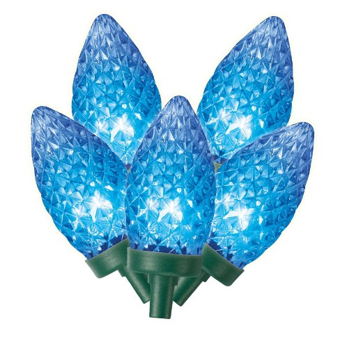 Philips 25ct Christmas Led C9 Faceted String Lights Blue
